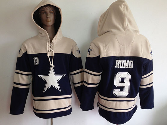 Youth Nfl Dallas Cowboys #9 Romo Blue (team Hoodie) Jersey