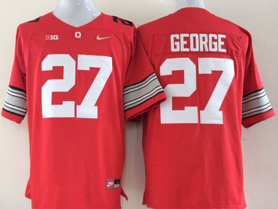 Mens Ncaa Nfl Ohio State Buckeyes #27 George Red Jersey