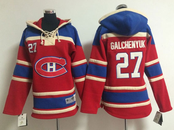 youth nhl montreal canadiens #27 galchenyuk red (ch) hoodie Jersey