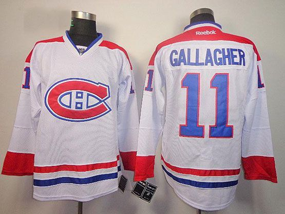 Mens reebok nhl montreal canadiens #11 gallagher white (ch) Jersey