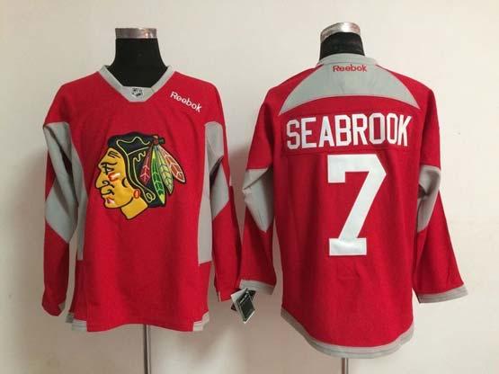 Mens reebok nhl chicago blackhawks #7 seabrook red (2015 new train) Jersey