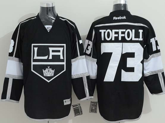 Mens reebok nhl los angeles kings #73 toffoli black Jersey