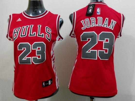 Women  Nba Chicago Bulls #23 Jordan Red Jersey