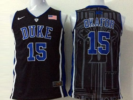 Mens Ncaa Nba Duke Blue Devils #15 Okafor Black Jersey
