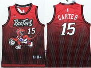 Mens Nba Toronto Raptors #15 Carter Red&purple Drift Fashion Jersey