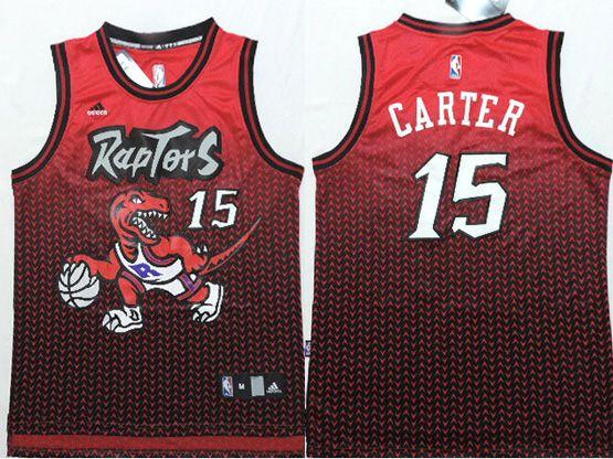 Mens Nba Toronto Raptors #15 Carter Red&purple Drift Fashion Jersey