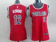 Women  Nba Portland Trail Blazers #12 Aldridge Red Jersesy