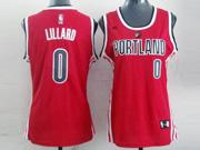 Women  Nba Portland Trail Blazers #0 Lillard Red Jersesy