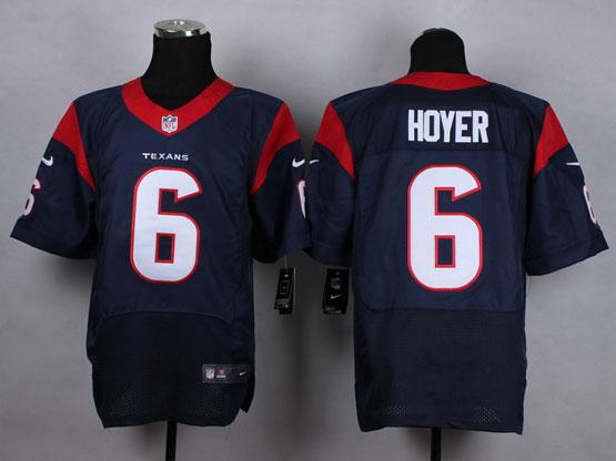 Mens Nfl Houston Texans #6 Hoyer Blue Elite Jersey