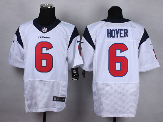 Mens Nfl Houston Texans #6 Hoyer White Elite Jersey