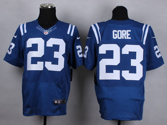 Mens Nfl Indianapolis Colts #23 Gore Blue Elite Jersey