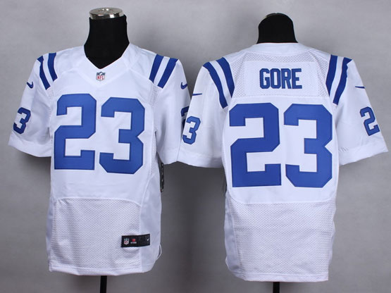Mens Nfl Indianapolis Colts #23 Gore White Elite Jersey