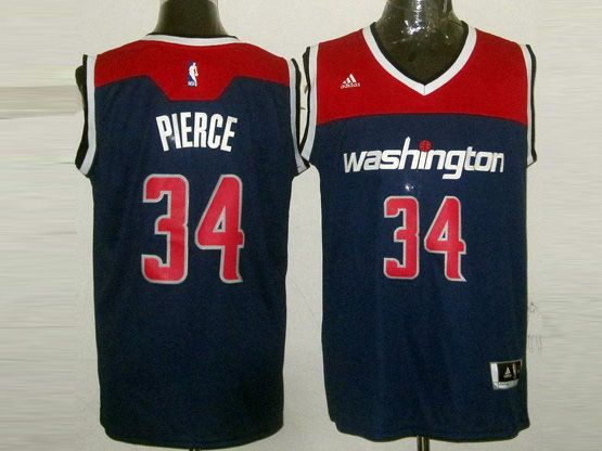 Mens Nba Washington Wizards #34 Pierce Blue 2014-15 New Swingman Jersey