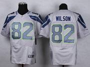 Mens Nfl Seattle Seahawks #82 Wilson Gray Elite Jersey