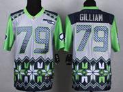 Mens Nfl Seattle Seahawks #79 Gilliam Blue&gray&green 2015 Noble Fashion Elite Jersey