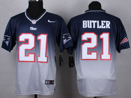 Mens Nfl New England Patrio #21 Butler Blue&white Drift Fashion Ii Elite Jersey