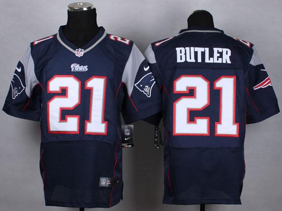 Mens Nfl New England Patrio #21 Butler Blue Elite Jersey