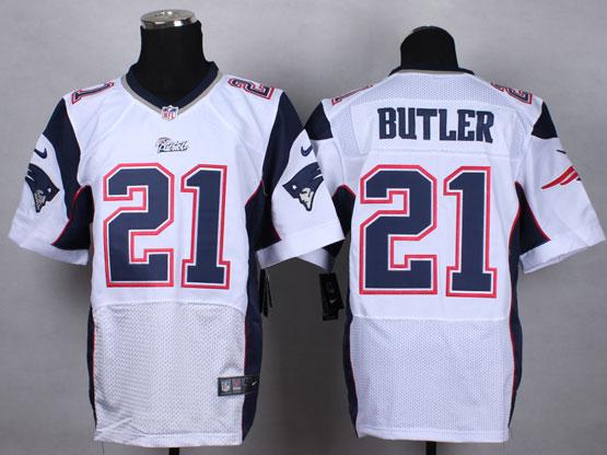Mens Nfl New England Patrio #21 Butler White Elite Jersey