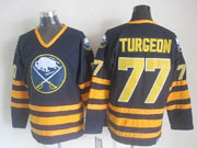 Mens nhl buffalo sabres #77 turgeon dark blue throwbacks Jersey