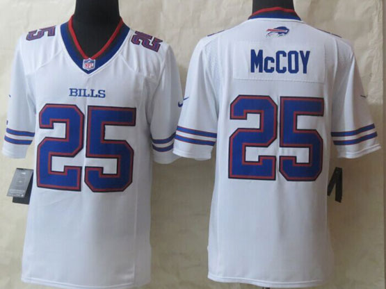 Mens Nfl Buffalo Bills #25 Lesean Mccoy White (2013 New) Game Jersey