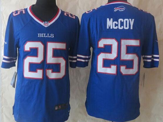 Mens Nfl Buffalo Bills #25 Lesean Mccoy Blue (2013 New) Game Jersey