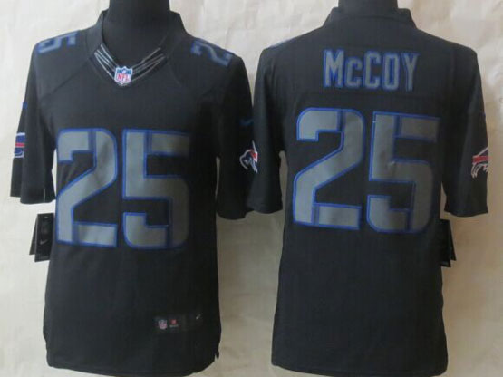 Mens Nfl Buffalo Bills #25 Lesean Mccoy Black New Impact Limited Jersey