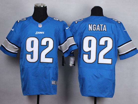 mens nfl detroit lions #92 ngata Light Blue elite jersey