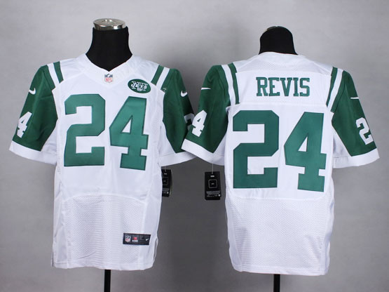 Mens Nfl New York Jets #24 Revis White Elite Jersey