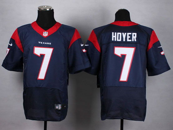 Mens Nfl Houston Texans #7 Hdyer Blue Elite Jersey(sp)