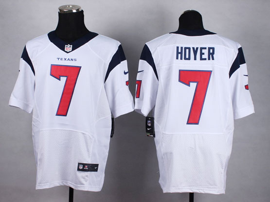 Mens Nfl Houston Texans #7 Hdyer White Elite Jersey(sp)
