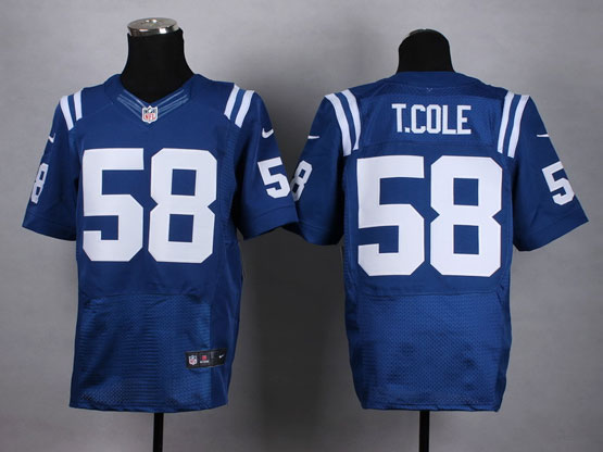 Mens Nfl Indianapolis Colts #58 T.cole Blue Elite Jersey