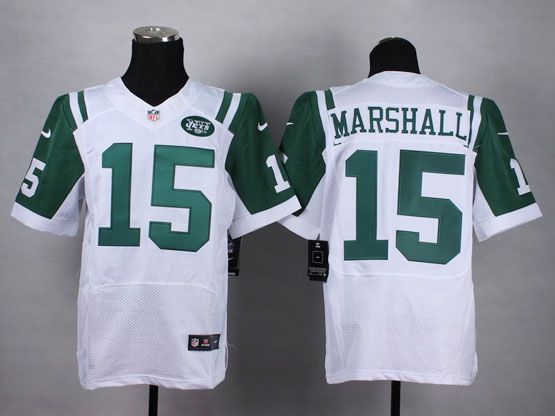 Mens Nfl New York Jets #15 Marshall White Elite Jersey(sp)