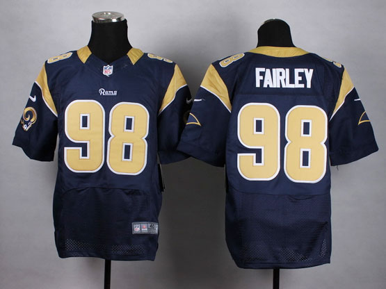 Mens Nfl St. Louis Rams #98 Fairley Blue Elite Jersey