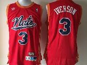 mens nba Philadelphia Sixers #3 Allen Iverson red (black number) hardwood mesh jersey