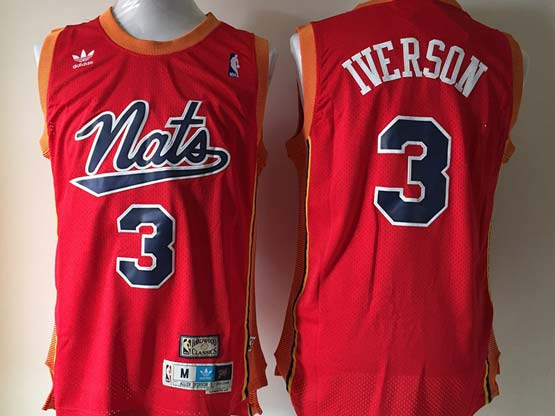mens nba Philadelphia Sixers #3 Allen Iverson red (black number) hardwood mesh jersey
