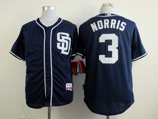 Mens mlb san diego padres#3 norris blue (sd) Jersey