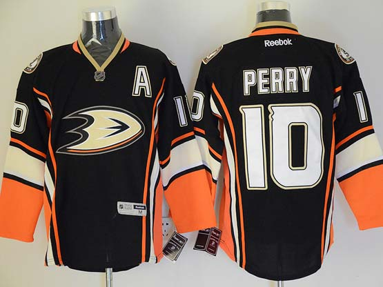Mens Reebok Nhl Anaheim Mighty Ducks #10 Perry Black Jersey