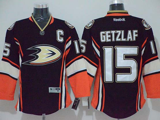 Mens reebok nhl anaheim mighty ducks #15 getzlaf black (2014 new)Jersey