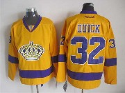 Mens Nhl Los Angeles Kings #32 Quick Yellow Throwbacks Jersey Dt