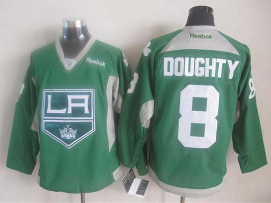 Mens reebok nhl los angeles kings #8 doughty green (2015 new) Jersey