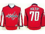 youth reebok nhl washington capitals #70 holtby red Jersey