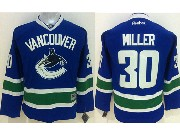 youth reebok nhl vancouver canucks #30 miller blue Jersey