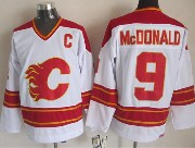 Mens reebok nhl calgary flames #9 mcdonald white throwbacks Jersey