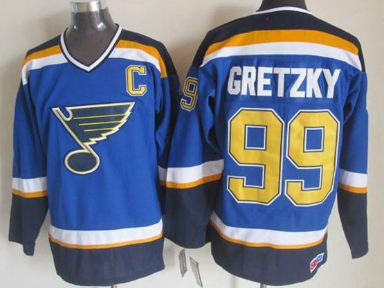 mens nhl st.louis blues #99 Wayne Gretzky light blue (2015 new) throwbacks jersey