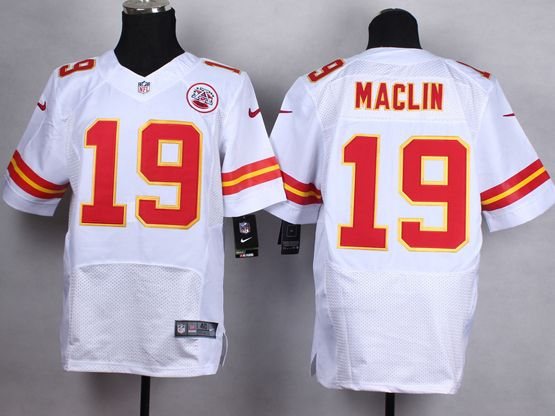 Mens Nfl Kansas City Chiefs #19 Maclin White Elite Jersey