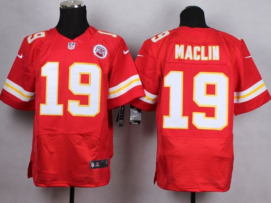Mens Nfl Kansas City Chiefs #19 Maclin Red Elite Jersey