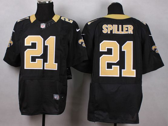 Mens Nfl Orleans Saints #21 Spiller Black Elite Jersey