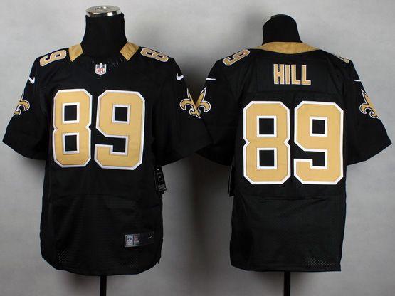 Mens Nfl Orleans Saints #89 Hill Black Elite Jersey