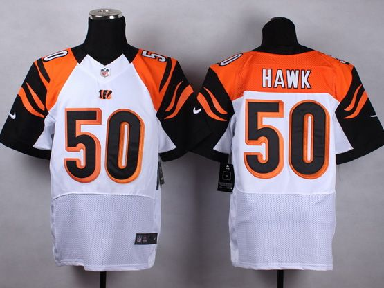 Mens Nfl Cincinnati Bengals #50 Hawk White Elite Jersey