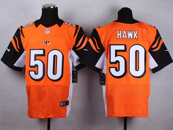 Mens Nfl Cincinnati Bengals #50 Hawk Orange Elite Jersey
